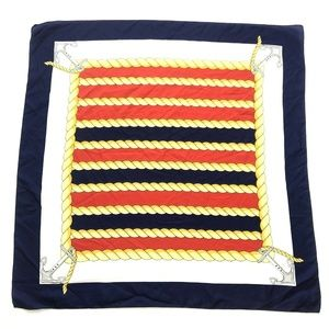 Nautical anchor rope preppy large square scarf
